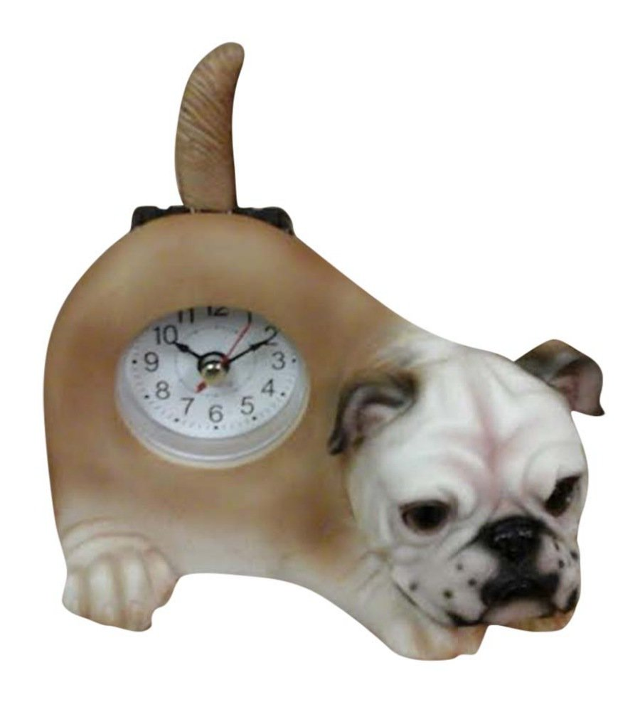 AIE Bull Dog Desk Clock with Wagging Tail GF77 6
