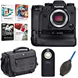 Fujifilm X-H1 Mirrorless Digital Camera Body w/Vertical Power Booster Grip Software Bundle + Focus Accessories