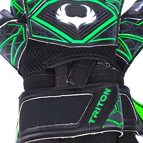 Renegade GK Triton Raider Roll Cut Level 2 Soccer Goalkeeper Gloves Adults    Youth with Fingersaves 484e81cb57