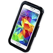 Galaxy S5 Case Waterproof【NEW VERSION】, iThrough 20ft S4 Underwater Case, Dust Proof, Snow Proof, Shock Proof Case with Touched Transparent Screen Protector, Heavy Duty Protective Carrying Cover Case for S5 i9600 (Black-)