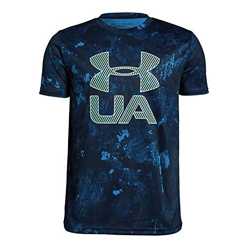 Under Armour Boys Printed Crossfade Tee, Academy (408)/White, Youth Medium