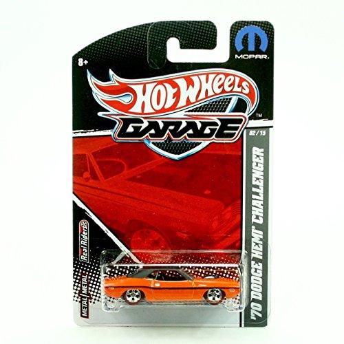 '70 DODGE HEMI CHALLENGER (Orange & Satin Black) * 2011 Hot Wheels Garage * 1:64 Scale Die-Cast Vehicle (Mopar 02/15)