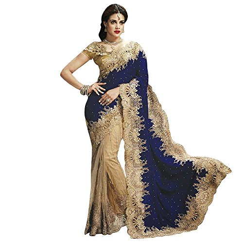 ood Saree Party Wear Pakistani Designer Sari Wedding ()