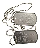 Custom Military Style Dog Tags Matte Finish