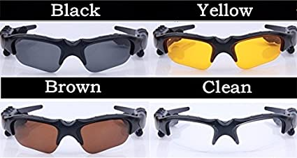 c5a181a3d4b5 Image Unavailable. Image not available for. Color  Sports Stereo Wireless  Bluetooth 4.0 Headset Telephone Polarized Driving Sunglasses mp3 Riding Eyes  ...