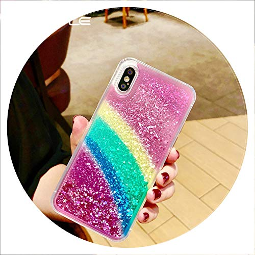 - Glad You Came Glitter Rainbow Phone Cover for Apple iPhone X 8 7 6S 6 Plus Case Fashion Cute Shining Back Soft TPU Cover Case,for iPhone X