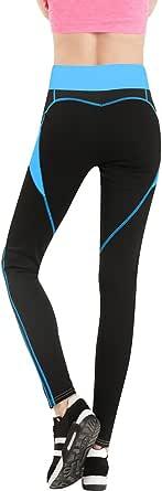 BOZEVON Women Sports Leggings, Ladies Workout Gym Fitness Exercise Yoga Pants,Jumpsuit Athletic Stretch Trouser Heart-Shaped Pants