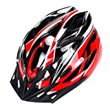 UNIQUEBELLA EPS Protecting Adult Cycling Bike Helmet Black/Red