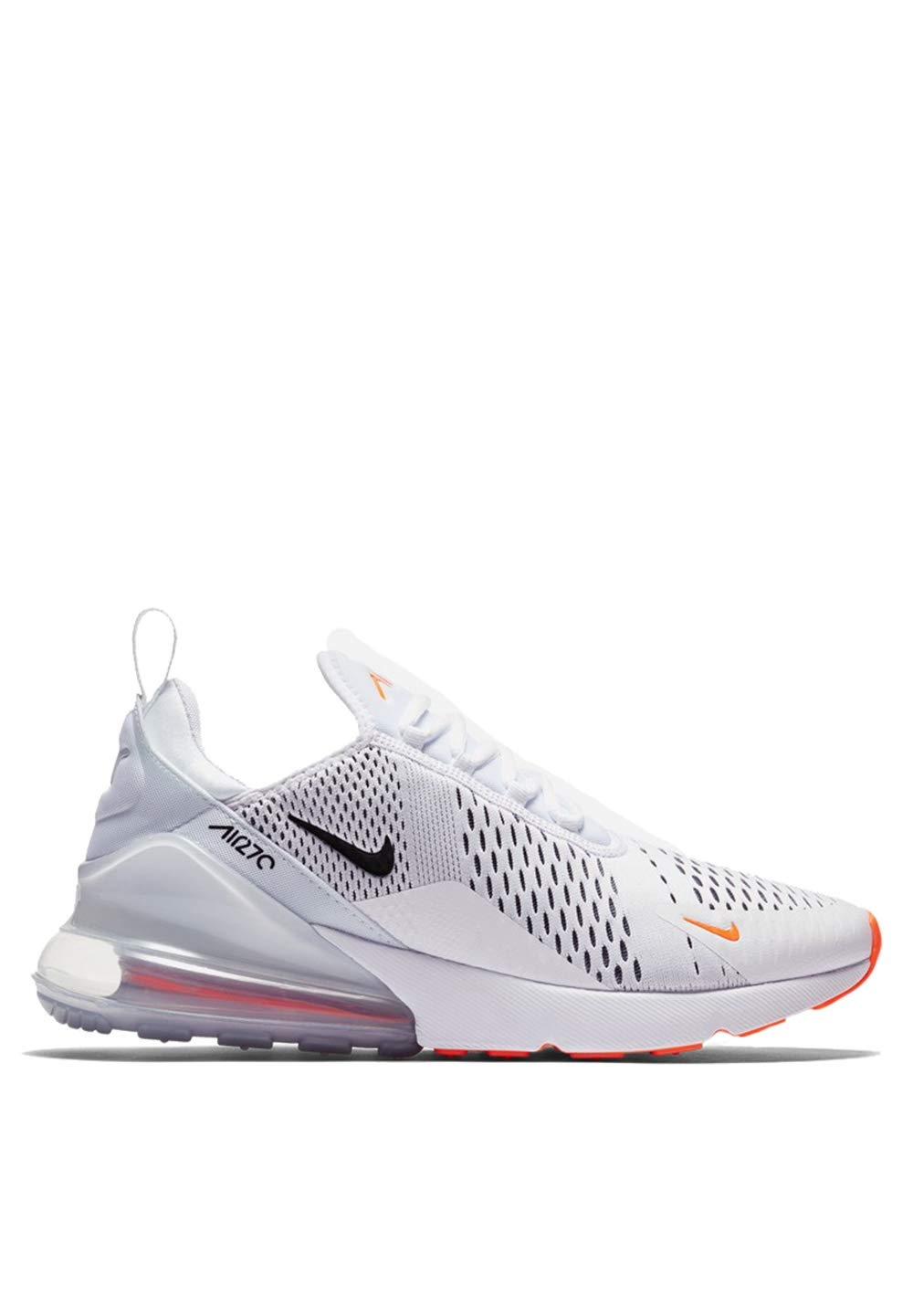 timeless design 6b0ec 96982 Galleon - Nike Mens Air Max 270 Running Shoes White Black Total Orange  AH8050-106 Size 8
