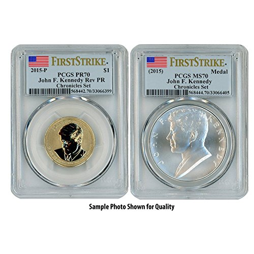 (2015 P John F. Kennedy Two Coin Set PR70/MS70 )