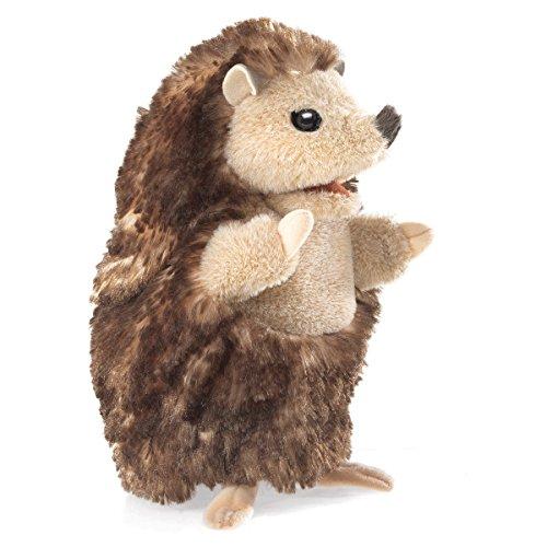 Hedgehog Finger Puppet - Folkmanis Baby Hedgehog Hand Puppet Plush