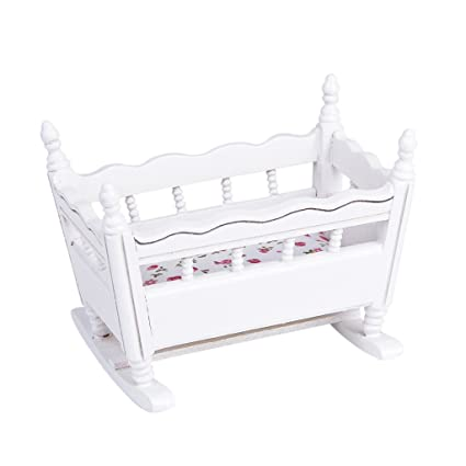 Amazon.com: Homyl 1/12 Dollhouse Miniature Furniture Wood Nursery ...