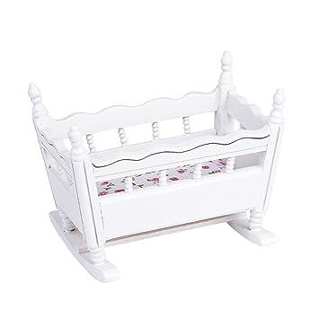 1/12 Cuna Guardería Madera en Miniatura Mueble para Casa de Muñecas ...