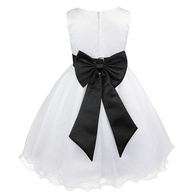 15e02d18152f TiaoBug Toddler Girls Wedding Bridesmaid Flower Girl Dress Formal ...