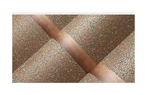 (Giow Wallpaper 3D Stereo Modern Striped Non-Woven Minimalist Sandstone Bedroom Living Room Wallpaper Background Wall Brown)