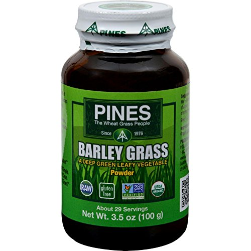 (Pines International 100% Organic Barley Grass Powder - 3.5 Oz)