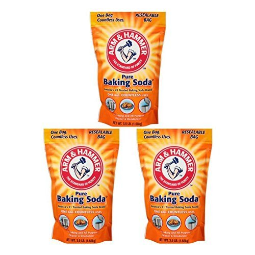 Arm & Hammer, Pure Baking Soda 3.5 lb. Stand-Up Bag (Pack of 3)