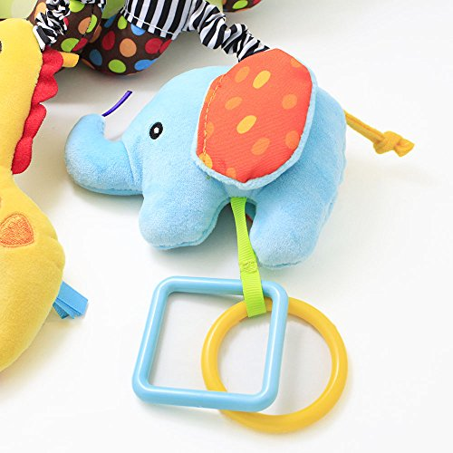 Hanging Toys for Car Seat, willway Infant Baby Educational Plush Toys for Crib Bed Stroller Car Seat by willway (Image #5)