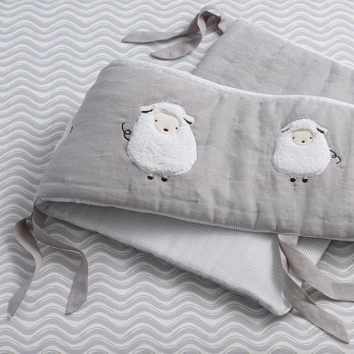 Lambs Sheep Lamb - Lambs & Ivy Signature Goodnight Sheep 4 Piece Bumper