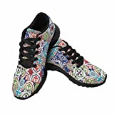InterestPrint Women's Go Easy Walking Comfort Sports Athletic Shoes Mega Gorgeous Patchwork Pattern US 7