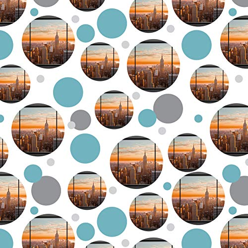 GRAPHICS & MORE New York Skyline Sunset Penthouse Suite View Premium Gift Wrap Wrapping Paper Roll