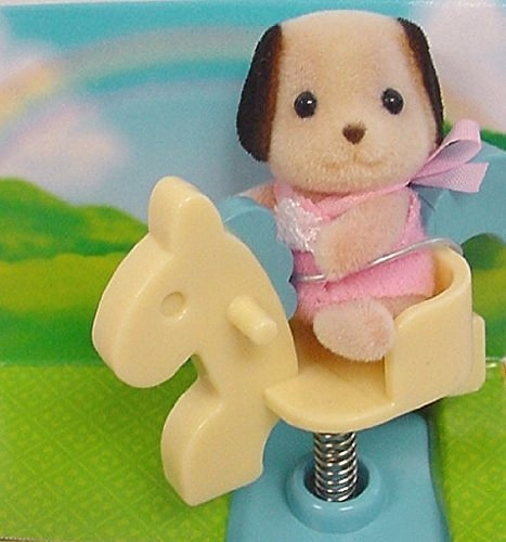 Calico Critters - Baby Carry Case - Beagel on Spring Horse (Calico Carry Case)
