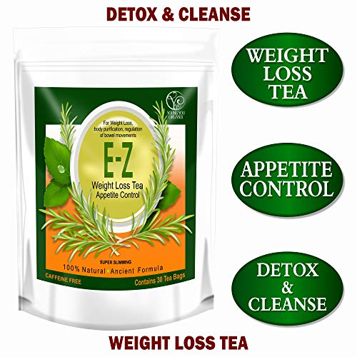 E-Z WEIGHT LOSS DETOX TEA - BELLY FAT - APPETITE CONTROL - BODY CLEANSE - COLON DETOX - WEIGHT LOSS