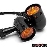 Krator® 2pcs Black Motorcycle Turn Signals Blinkers Lights For Honda VTX 1800 TYPE C R S N F T RETRO