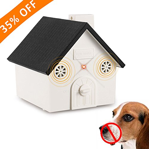 Anti Barking Device, 2018 New Bark Box Outdoor Dog Repellent Device with Adjustable Ultrasonic Level Control Safe for Small Medium Large Dogs, Sonic Bark Deterrents, Bark Control Device by Elenest
