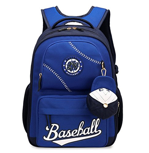Fanci Baseball Cap Primary School Backpack for Teens Boys Elementary School Bookbag with Coin Purse ()