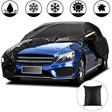 Funda-para-Coche-Exterior-Negra-210T-Impermeable-Lona-para-Coche-Cubierta-Coche-Exterior-contra-Sol-Nieve-Polvo-Viento-Tamano-Universal-44-18-16m173-70-62-in-210T