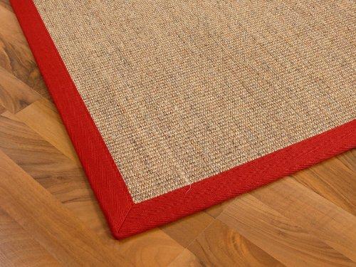 Sisal Astra Natur Teppich Nuss Nuss Nuss Bordüre Rot in 16 Größen B007N5VSUG Teppiche b713c3