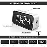 Small Digital Alarm Clock for Heavy Sleepers with