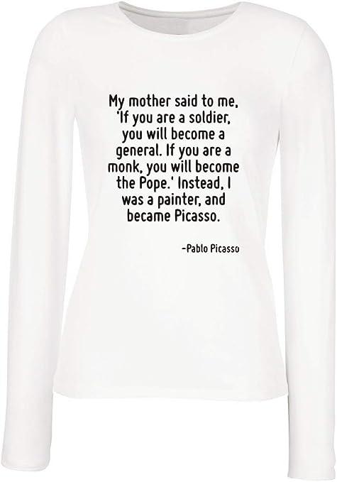 T-Shirt para Las Mujeres Manga Larga Blanca CIT0165 My Mother ...