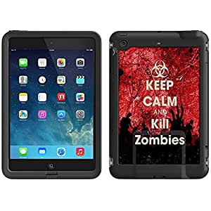 Skin Decal for LifeProof iPad Mini Case - Keep Calm and Kill Zombies on Blood by ruishername