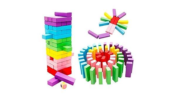 LZH Juguetes De Bloques De Construcción, Juguetes Educativos para Niños Bloques De Construcción Digitales Jenga En Color: Amazon.es: Hogar