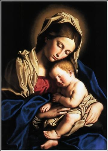 amazon com virgin mary baby jesus glossy poster picture photo