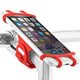 Universal Bike Phone Mount, Bicycle Stem Handlebar Cell Phone Holder for iPhone 8 7 6S Plus 5 SE Samsung Galaxy S8 S7 Note 6, 4 to 6 Inch Smartphone, Bike Tie Pro Series
