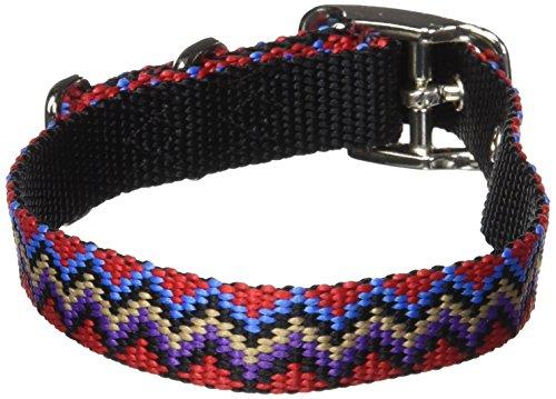 Hamilton 5/8-Inch by 14-Inch Single Thick Nylon Deluxe Dog Collar, Mutli Colored Weave, Black