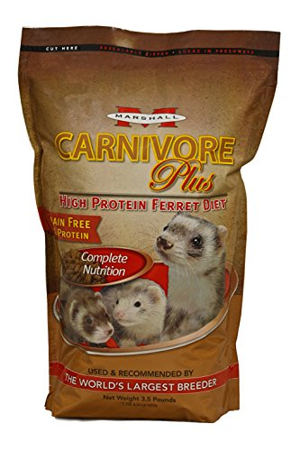 Marshall Carnivore Plus High Protein Diet Ferret Food - 3.5 lb