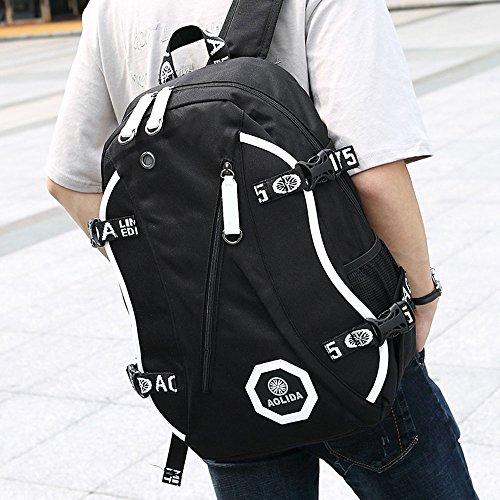 Mochila escolar Oxford Mochila, gran capacidad, multifunción, bolsa de viaje, bolsa para ordenador portátil, bolsa perfecta para uso diario, escuela, universidad, compras, hombres