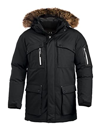 Clique Mountain Wear Expedition Parka. Extra Heavy Wind Waterproof Cold  Weather Parka Jacket 6e933b39a