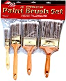 Linzer A-2204 4-Piece Deluxe Polyester Brush Set
