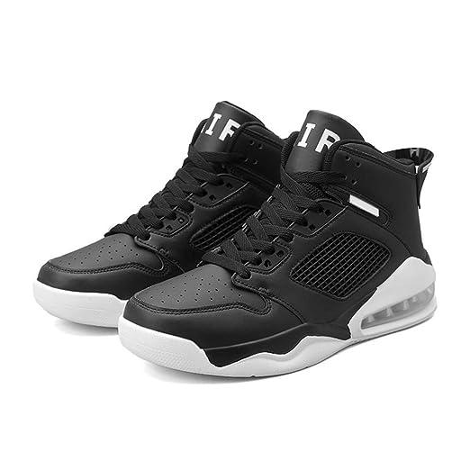 NUJO 2020 Zapatillas de Baloncesto, Serie 020-4, Negro, 43: Amazon ...