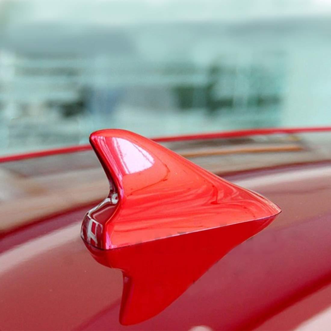 Fdslywejk Autofilm-Auto-Aufkleber Usableness A-886 Auto Auto Haifischflosse Dome Antenne Dekoration for Honda Buick Nissan Hyundai Toyota Volkswagen Mazda Farbe : Color2 wei/ß