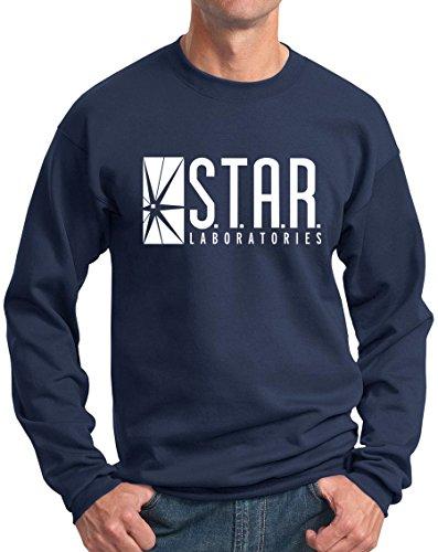 (Star Labs Sweatshirt Star Laboratories Superhero Sweatshirt Navy XL )