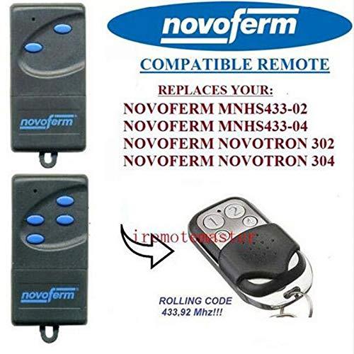 NOVOFERM/NOVOTRON 512 MIX43 Mini Carbon Compatible Mando a distancia 4canales 433,92mhz rolling code Reemplazo emisor de alta calidad para el mejor precio. 2