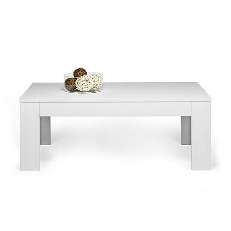 Mobili Fiver, Easy, Tavolino da Salotto, Frassino Bianco, 100 x 55 x ...