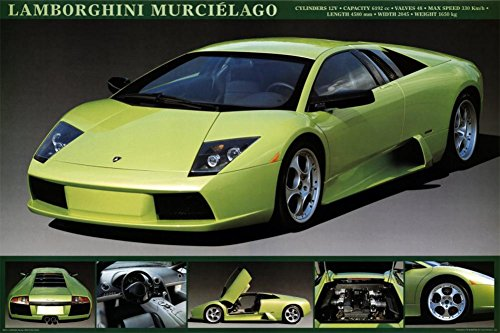 Lamborghini Murcielago Poster 36 x 24in