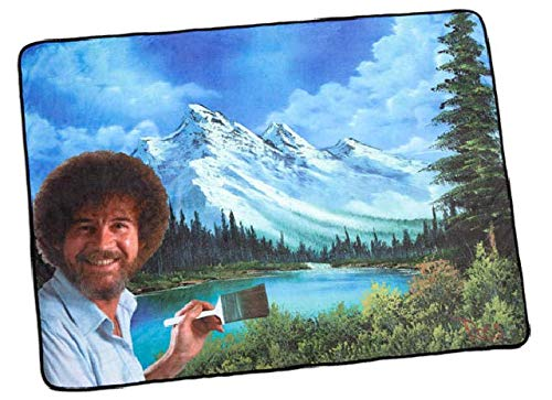 Bob Ross Happy Little Accidents Trees Blanket Throw by Bob Ross